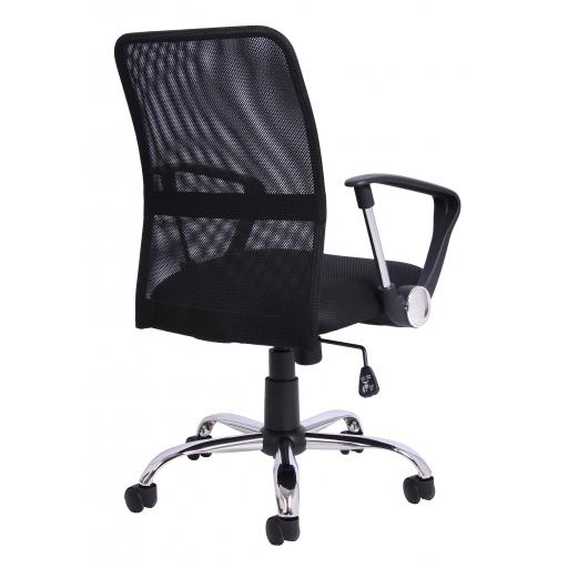Gomez leather Look Executive chair Black