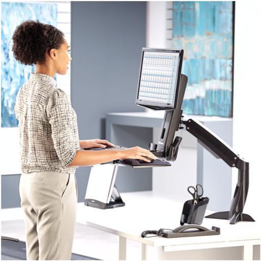 Fellowes Easy Glides Desk Top Sit -stand Work Platform