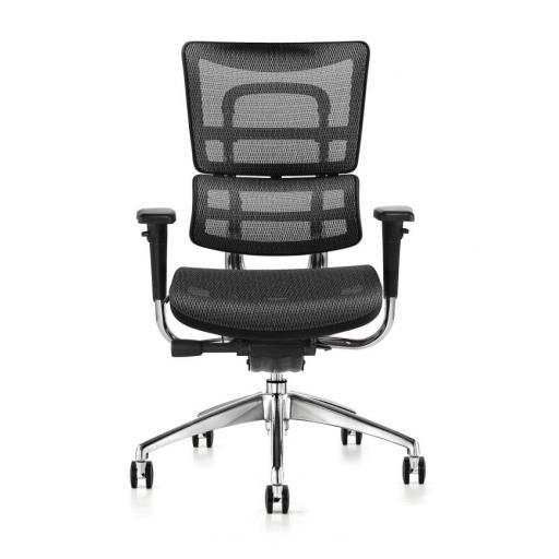 i29 Hood Mesh chair with fabric seat