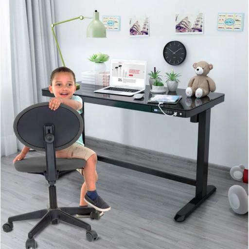 ED20 Sit and Stand Height adjustable Desk with drawer and fast USB Charger
