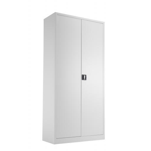 TC Steel Double Door Cupboard 1950 White