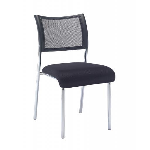 Jupiter Mesh Side Chair Chrome Frame