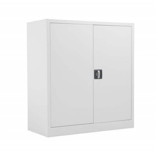 TC Steel Double Door Cupboard 1000 Grey