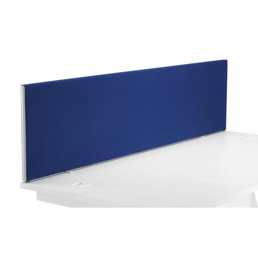 1600 Straight Upholstered Desktop Screen Royal Blue