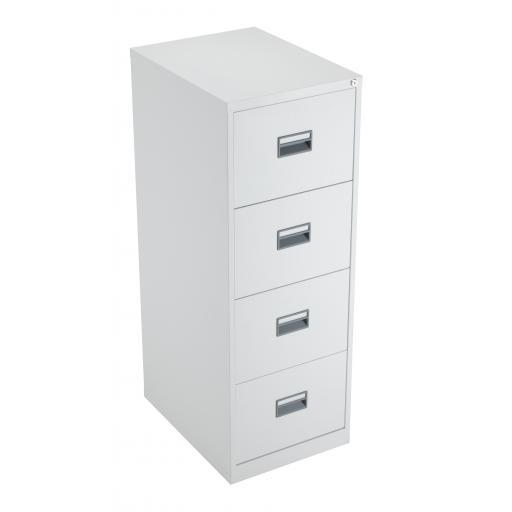 TC Steel 4 Drawer Filing Cabinet White