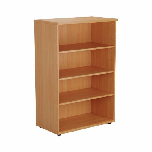 1200 Wooden Bookcase (450mm Deep) Beech