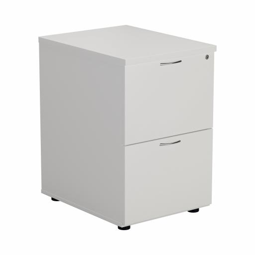 2 Drawer Filing Cabinet - White