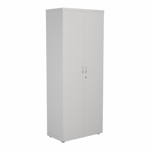 2000 Wooden Cupboard (450mm Deep) White