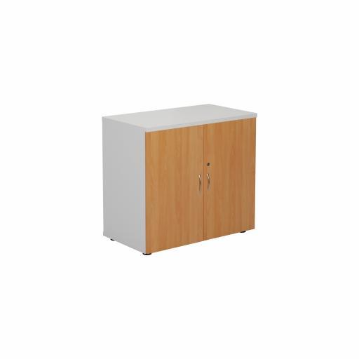 700 Wooden Cupboard (450mm Deep) White Carcass Beech Doors