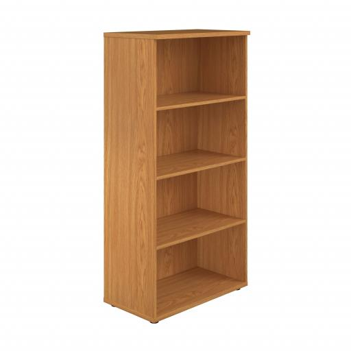 1600 Wooden Bookcase (450mm Deep) Nova Oak