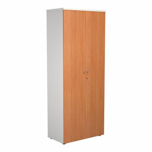 2000 Wooden Cupboard (450mm Deep) White Carcass Beech Doors