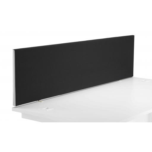 1600 Straight Upholstered Desktop Screen Black