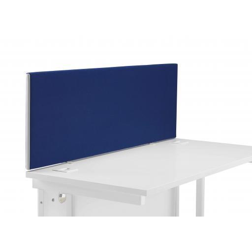 1400 Straight Upholstered Desktop Screen Royal Blue