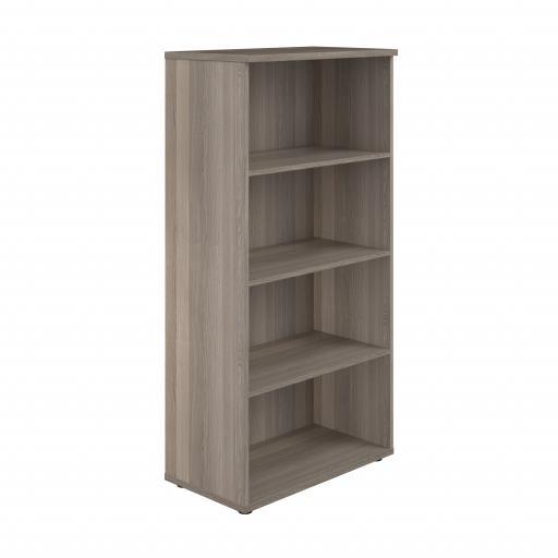 1600 Wooden Bookcase (450mm Deep) Grey Oak